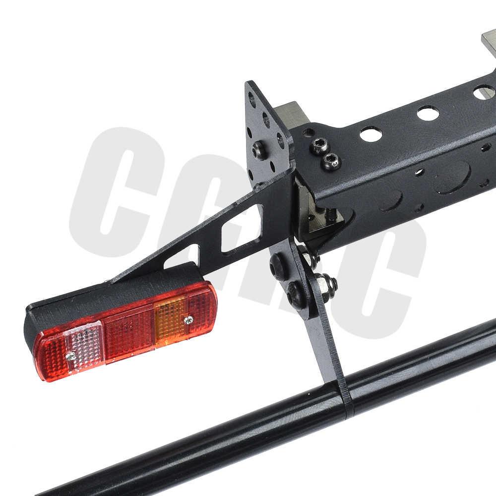 Metalen Achter Bump Taillamp Cover Kit Voor 1/14 Tamiya Rc Auto Tow Slepen Trailer Kipper Dumptruck Man Actros Scania R620 upgrade
