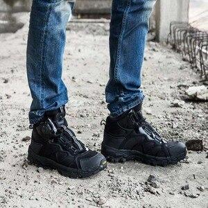 Image 3 - Мужские армейские ботильоны BOA, коричневые Тактические Военные боевые ботинки, дышащая обувь для быстрого реакции, безопасная альпинистская обувь