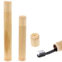 Tube en bambou naturel/PP pour brosse à dents, étui de voyage écologique fait à la main, emballage de voyage Portable 1 pièce