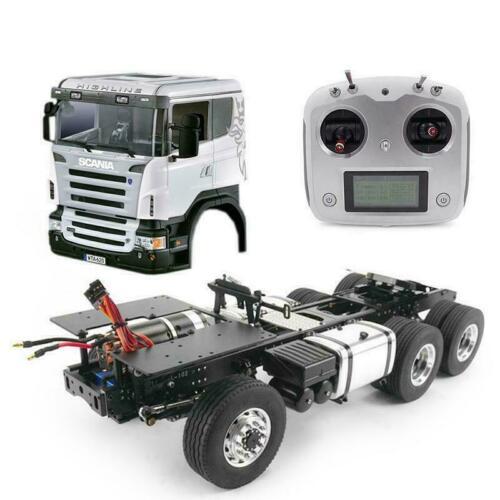 LESU RC 1/14 6*6 Sca tracteur camion métal châssis bricolage son moteur de cabine ESC THZH0315