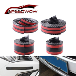 ESPEEDER 5D guma miękka uszczelka z włókna węglowego gumowe listwy progowe do samochodów próg drzwi pokrywa Panel krok Protector przedni spojler zderzaka