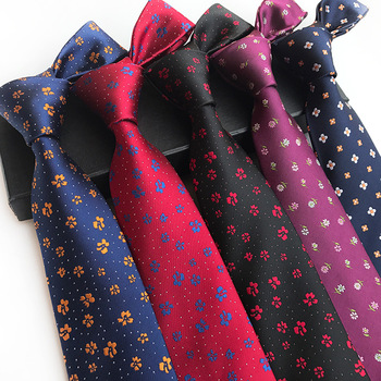New Small Flowers Paisley Ties for Men Classic Silk Jacquard Weave Wedding Neck Ties Business Neckties 8cm Corbatas Hombre new mens tie blue gold paisley silk jacquard neck ties business wedding party ties for men