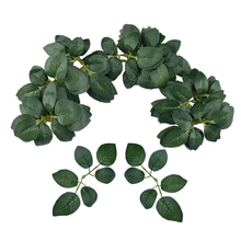 60pcs Artificial Rose Leaves Fake Plant Leaf for Wedding Bouquets Photography Props home decor Hot Sale