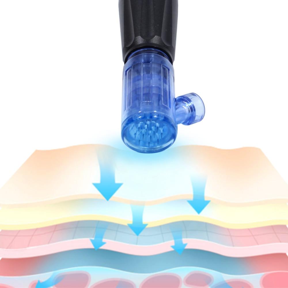 Hot Sale Derma Pen Beauty Permanent Makeup Machine Microneeding Pen Skin Care 36 Nano Needles Cartridge MTS Mesotherapy