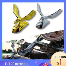 Universal Motorcycle Parts Gold Chrome Eagle Head Ornament Scooter Front Fender Mud Guard Alloy Statue For Honda Triumph Ducati