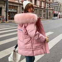 Women Winter jackets coat 2019 Casual thick warm big fur hooded parkas coat Solid winter sintepon jacket female outwear coat