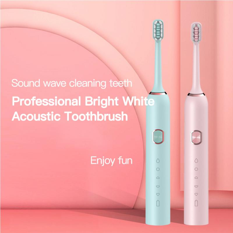 Ultrasonic Electric Toothbrush Rechargeable Buy One Get One Free Sonic Toothbrush 3 Mode Travel Toothbrush Maquillaje image