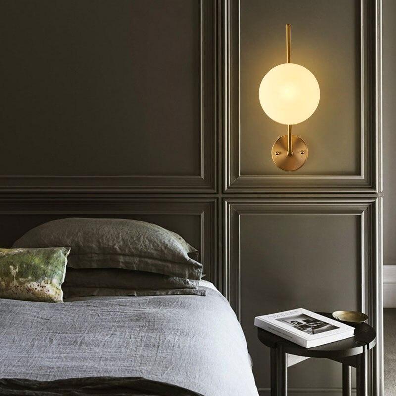 Brass Pendant Lamp Dining Glass Ball Pendant Light For Makeup Room Modern Pendant Lamp Bedroom Bedside Kitchen Fixture Balcony Leather Bag