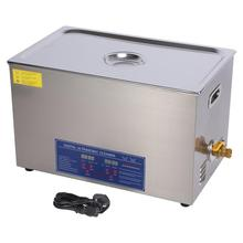 30L Stainless Steel Ultrasonic Cleaner Digital Industrial Heated Ultrasonic Cleaning Tank w/ Timer 220V Domestic Delivery small ultrasonic cleaning machine digital ultrasonic wave cleaner cd4800 ultrasonic cleaner 110v 220v