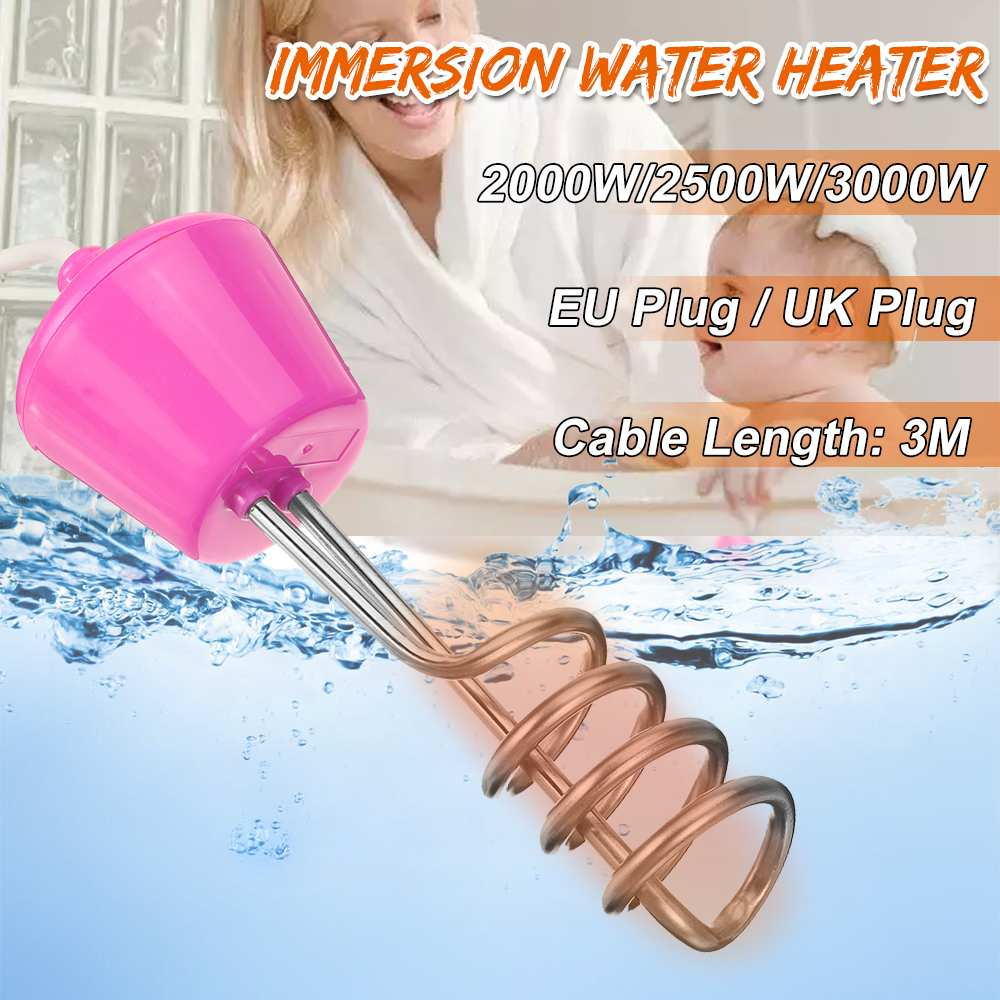 2000/2500/3000W 300cm Electricity Immersion Water Heater Element Boiler Portable Water Heating Rods For Inflatable Swimming Pool