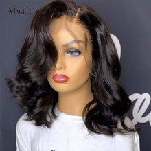 Loose Wave Wigs Human-Hair Lace-Frontal Bob Magic Natural Brazilian Love13--4 for Women