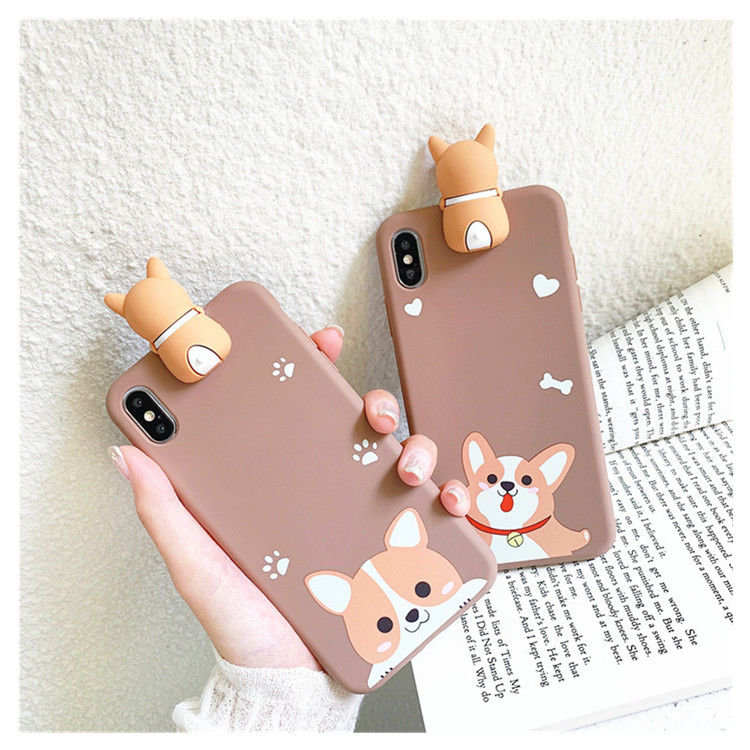 3D Dog Cartoon Painted Case For OPPO Find X2 Corgi Dogs TPU Case For Realme XT C3 6 Pro 7 X50 X2 Pro X7 X 3 C11 C12 Phone Cover