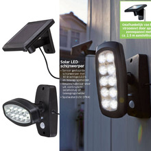 Bulbs Solar-Lamp Garden-Motion-Sensor Rotating-Security-Wall Street Outdoor Ultra-Bright-Landscape