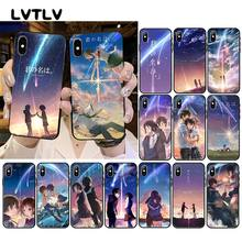 LVTLV Japanese Anime Your Name Kimi no Na wa Phone Case For iPhone 11 pro XS MAX 8 7 6 6S Plus X 5 5S SE XR case(China)