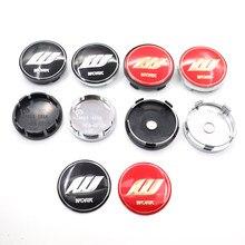 4 pçs 56mm ou 60mm w logotipo do trabalho emblema do carro roda centro hub tampa aro reequipamento emblema dust-proof capa decoração adesivo estilo