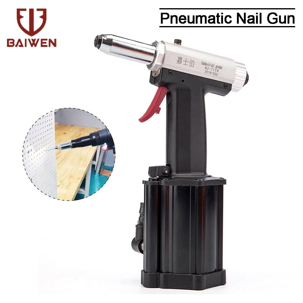 Air Riveter Pneumatic Hydraulic Pop Rivet Gun Air Riveter Riveting Tool HJ-7118 Industrial Nail Hand Tool