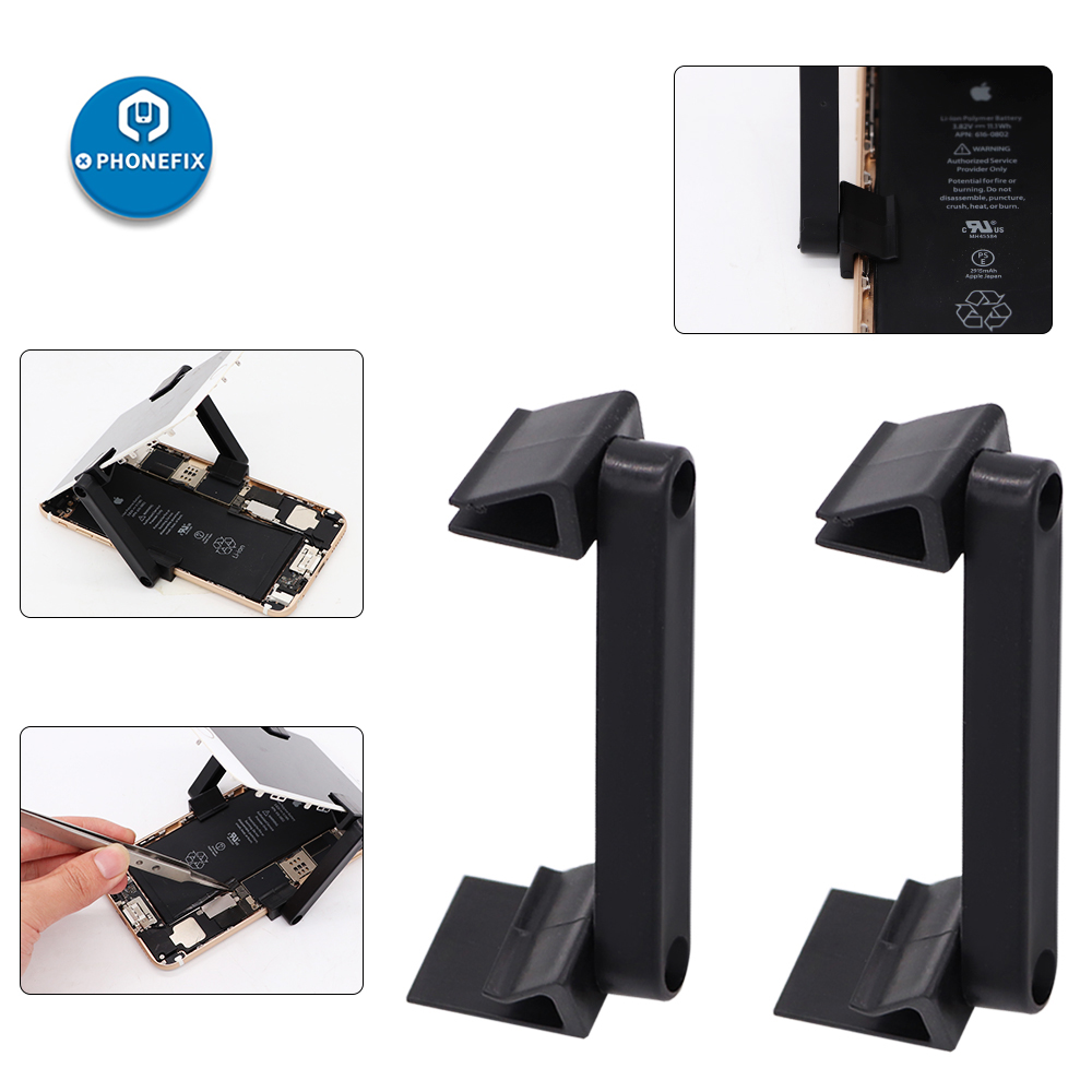 PHONEFIX 2Pcs Screen Clip Fixture Plastic Clip LCD Screen Fastening Fixture Tablet PC Repair Holder For IPhone X 8 7 6 Repair