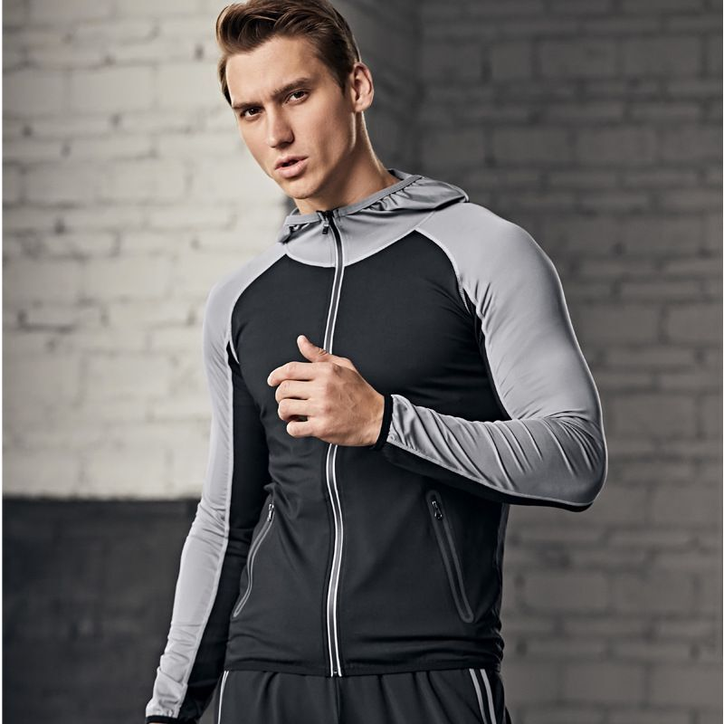 2020 Spring And Autumn Men's Quick-drying Basketball Clothing Long-sleeved Trousers Training Clothing Running Clothes Sports Two