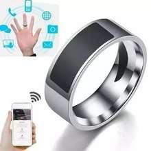 Anillo inteligente NFC multifuncional anillo inteligente resistente al agua dedo elegante Acero inoxidable titanio acero anillo para teléfono móvil unlo