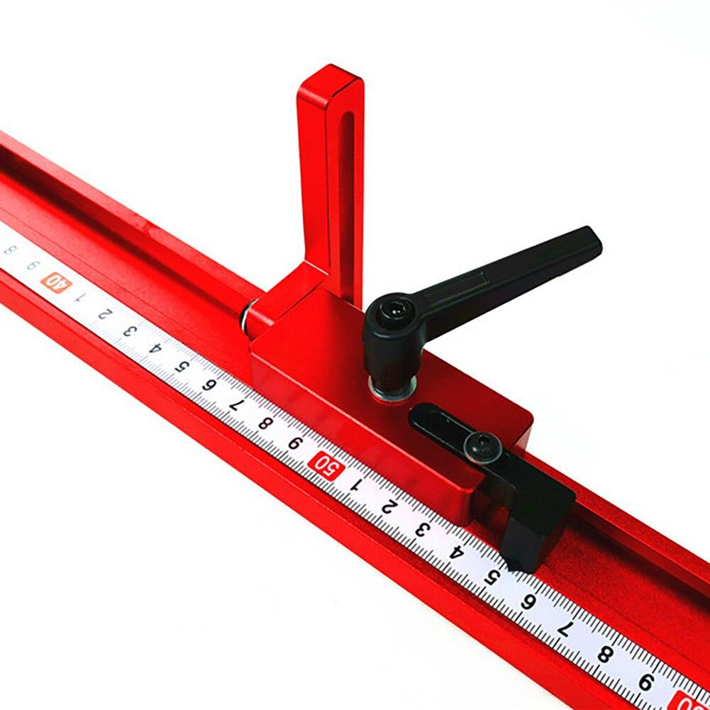 Goulotte en alliage d'aluminium t-pistes modèle 45 T fente Standard onglet arrêt de piste outil de travail du bois pour Table de routeur d'établi