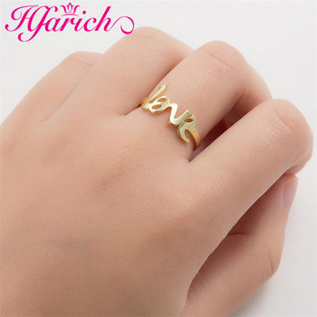 Fashion Letter Love Knucke Rings Minimalist Geometry Music Notes for Women Men Party Wedding Lover Couple Romantic Jewelry Gift image