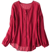 Boollili Blouse Women Real Silk Shirt Womens Tops and Blouses Red Ladies Tops Women Clothes Blusas Mujer De Moda 2020(China)