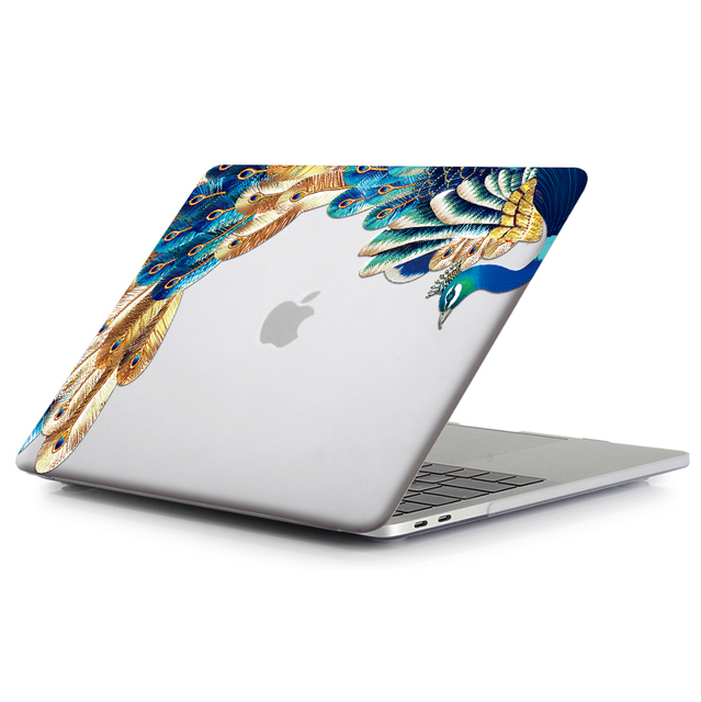 Crystal Feather Hard Colored Case for MacBook 2