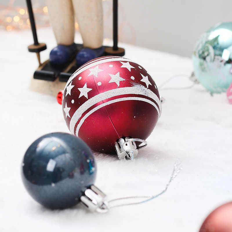 40-70 шт случайные милые рождественские украшения для дома Рождественский металлический шар украшения аксессуары для Новогоднего декора 2019 I
