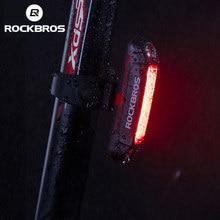 ROCKBROS Bike Hinten Licht Radfahren USB Aufladbare Sattelstütze Gabel Licht MTB Ritt Fahrrad Super Helle Led Rot Rücklicht Taschenlampe