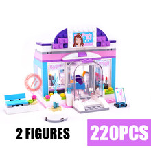 New Heartlake Butterfly Beauty Shop Fit Friends Figures House Kits Building Blocks Bricks DIY Girls Toys for Children Gift Kid стоимость