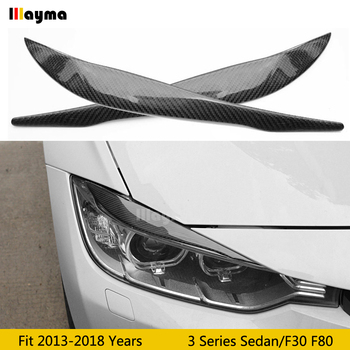 Performance style Carbon Fiber Car Eyebrows For BMW 3 Series 318i 320i 330i F30 F80 M3 car lamp eyelid front eyebrow image