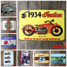 Motorcycle Metal Signs Vintage Tin Plate Retro Iron Painting Wall Decoration for Bar Cafe Garage Home Gym Gas Station Shop