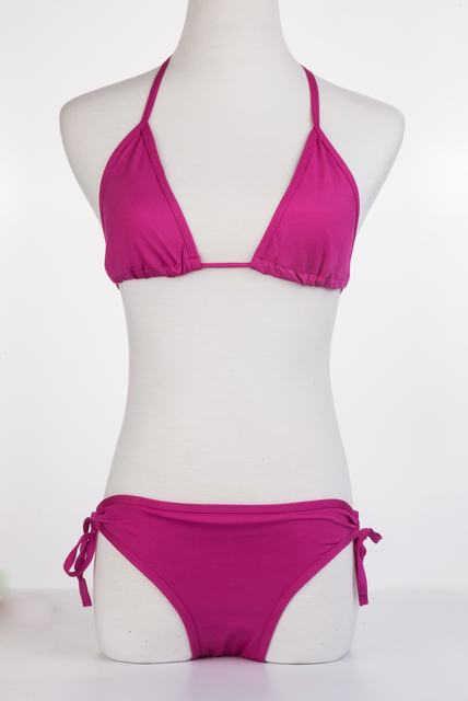 Delle donne Insieme Sexy Del Bikini 2020 di Estate Costume Da Bagno Costume Da Bagno Costumi Da Bagno Beachwear Solido Nero Spiaggia Biquini BK001