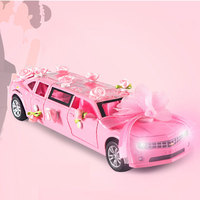 Alloy sports car simulation 1:32 Chevrolet wedding car model wedding concierge car pull back music lighting toy car jewelry toys