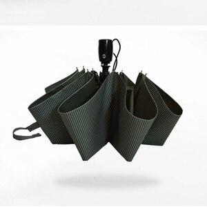Image 3 - Automatic folding umbrella men rain quality windproof uv large paraguas male stripe parapluie 4 colors recommend