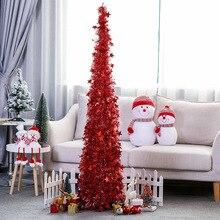 Украшение для рождественской елки, выдвижные рождественские принадлежности, шерстяной топ, Рождественская елка, складные рождественские украшения для дома, вечерние