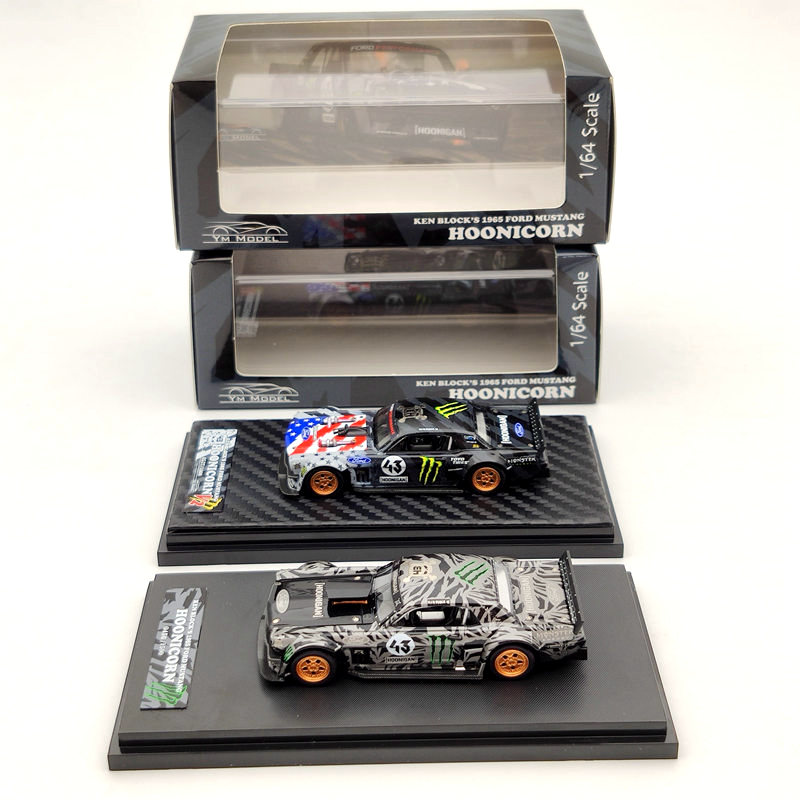 YM Model 1:64 For Ford Mustang 1965 Ken Block's Hoonicorn #43 Resin Limited Edition