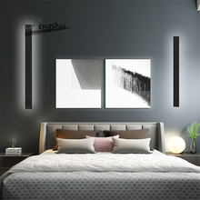 Modern Bedroom Bedside LED Wall Lamp Living Room Background LED Wall Light Corridor Aisle Stairs Long Mirror Front Lamp Lighting 12w conch shape led wall lamp bedside lamp modern living room corridor hallway stairs lights pathway sconce lighting