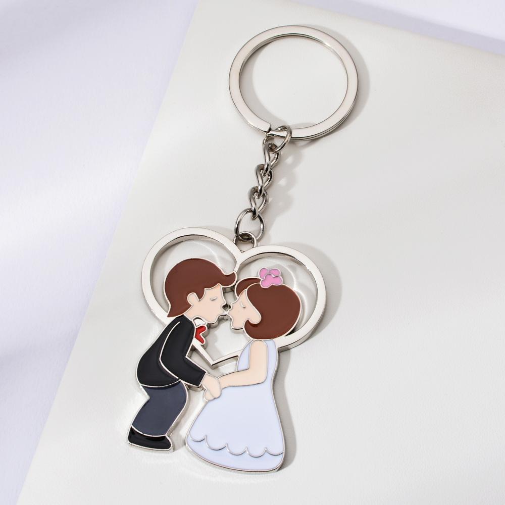 Vicney Romantic Couple Key Ring Chain Wedding Ceremony Key Chain Bride Cute Cartoon Valentine S Day Pendant Lovers Gift Keychain Key Chains Aliexpress
