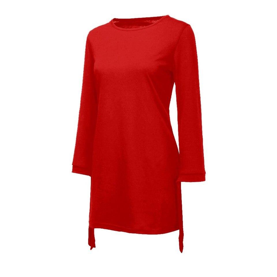 us $5.61 15% off|o neck solid bow elegant straigth dress spring loose  dresses winter dresses women 2019 plus size kleider damen abendkleid
