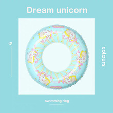 купить Inflatable Unicorn Adult Children Swimming Ring Party Decorations Pool Float Toys Games Large Life Buoy Giant Inflatable Circle дешево