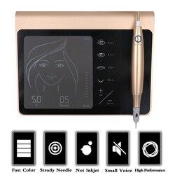 Аккумуляторная батарея с сенсорным экраном, вилка стандарта США/ЕС, машина для перманентного макияжа, Машинка для бровей и губ, машинка для ...