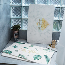 Leaf diatom mud mat durable quick-drying absorbent bathroom carpet non-slip diatomite carpet