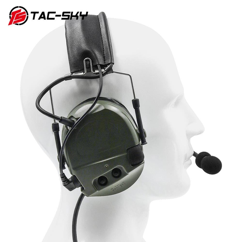 Купить с кэшбэком TAC-SKY military noise reduction pickup tactical headset COMTAC I silicone earmuff version FG+ U94 PTT walkie-talkie accessories
