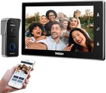 TMEZON videoportero inalámbrico Sistema de portero automático timbre 10 pulgadas WiFi Monitor con 720P con cable de cámara al aire libre