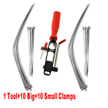 Auto CV Joint Banding Boot Axle Clamp Tool and 20PCS CV Half Shaft Boot Band Buckle Clamps Repair Install Tools for ATV UTV