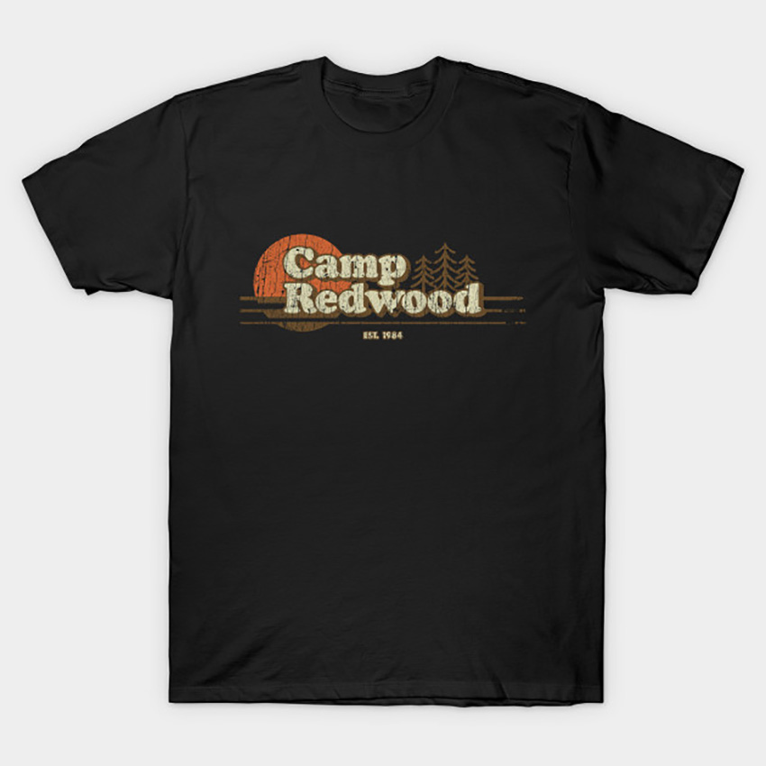 Camp Redwood 1984 T - Shirt Ahs T Shirt Horror Slasher Camp Camping 1984 Camp Crystal Lake Crystal Lake 80s Friday The 13th image