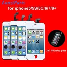 AAA 품질 LCD 화면 아이폰 6 6 플러스 5S 5c 5 LCD 디스플레이 터치 스크린 디지타이저 어셈블리 Pantalla 블랙/화이트 Ecran