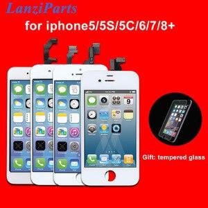 Image 1 - AAA kalite LCD ekran iPhone 6 6 artı 5 5S 5C 5 LCD ekran dokunmatik ekran Digitizer meclisi Pantalla siyah/beyaz Ecran