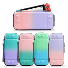 ALLOYSEED Nylon Hard Shell Gradient Color Game Console Storage Bag Carrying Case Protective Cover Pouch For Nintend Switch Host